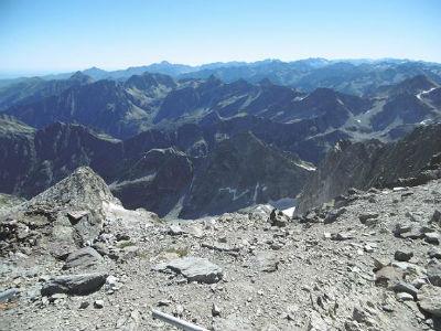 Du sommet du Balatous (3144 m), pic du Midi de Bigorre, Arbizon, Néouvielle et pic Long