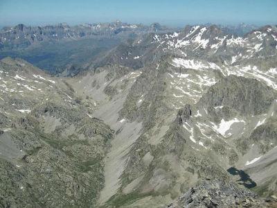 Du sommet du pic du Clot de la Hount (3289 m), Telera, Collarada et Garmo Negro