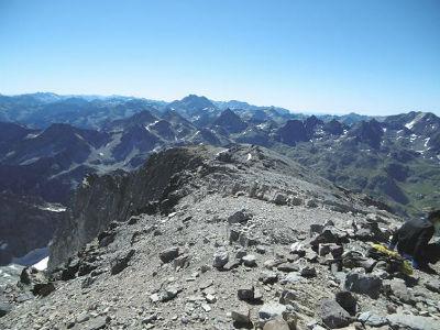 Du sommet du Balatous (3144 m), Vignemale, Taillon et picos del Infierno