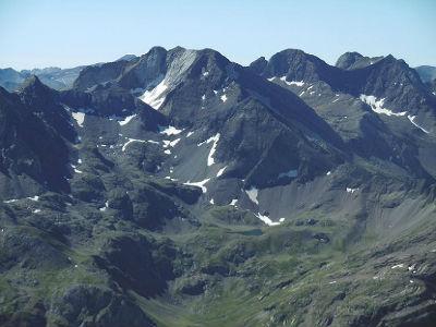 Du sommet du Balatous (3144 m), picos del Infierno, Garmo Negro et Algas Argualas