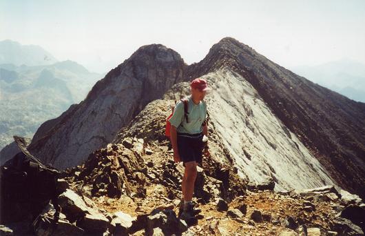 Du sommet du pico Occidental del Infierno, la crête de los Infiernos