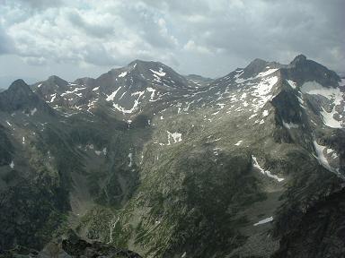 Du sommet du pic des Trois Conseillers, pics Campbieil et Badet et Pic Long