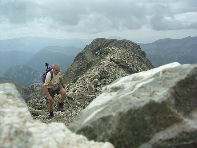 La crête parcourue pour arriver au sommet du pico de la Robinera ou de Louseras 3003 m