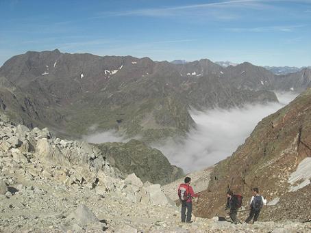 Passage au Port Supérieur de Pouchergues ou de Gias 2921 mètres