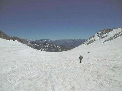 Descente sur le glacier d`Ossoue