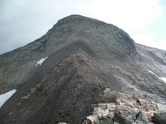 Remontée Nord-Est de la crête Sud-Ouest de la Punta del Sabre