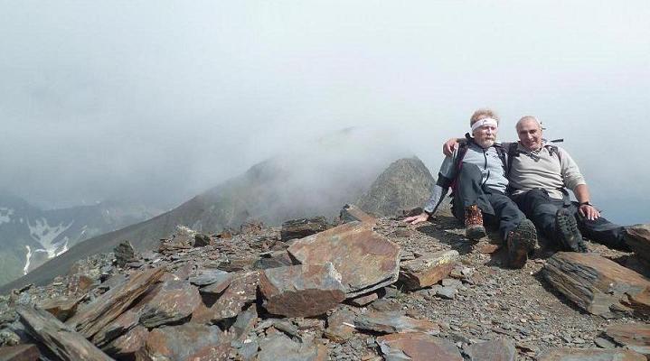 Au sommet de la Punta del Sabre (3136 m) devant le Gran Bachimala