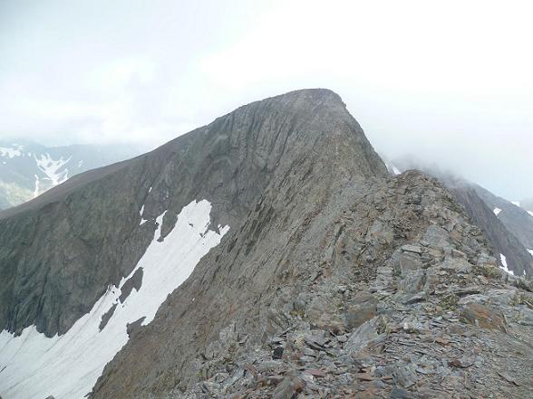 Du sommet de la Punta del Sabre (3136 m), le Gran Bachimala