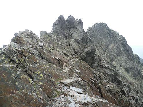 Sur la crête entre la Punta del Sabre et le Gran Bachimala, regard derrière