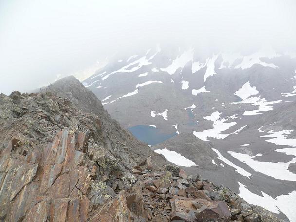 Du sommet du Gran Bachimala (3177 m), les Ibons de Bachimala