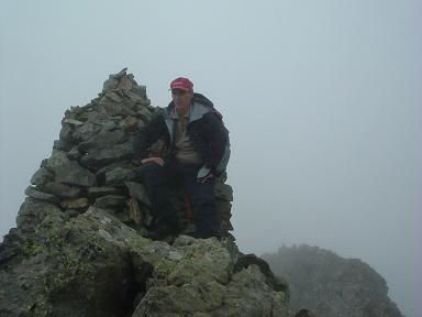 Sommet du pic Badet surmonté d un imposant cairn