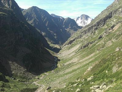 La vallée sous le lac de Pouchergues