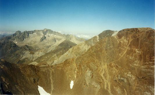 Du sommet du pico de Argualas, Balaitous, Infiernos et Garmo Negro