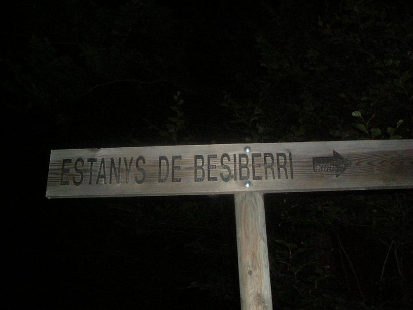 Départ de nuit en direction du Besiberri