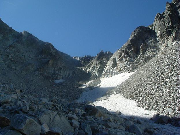 Zone d éboulis versant Nord du coll d Abellers