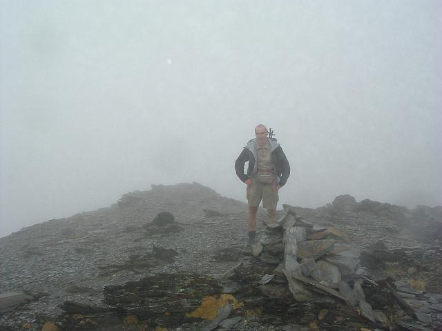 Passage au sommet du Campbieil Sud-Sud-Ouest ou pic de Lentilla