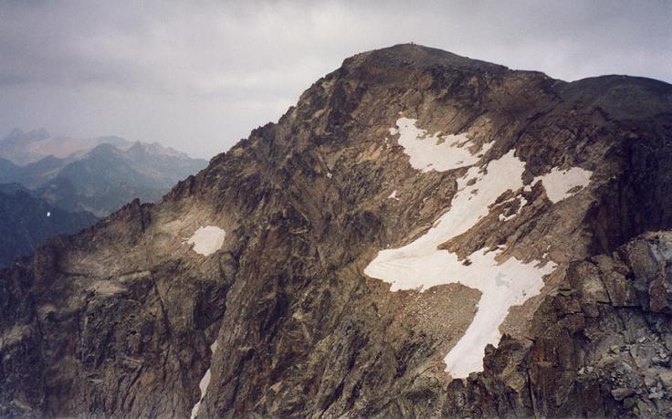 Du pico de la Frondella Central 3055 m, le Balaitous et la Grande Diagonale