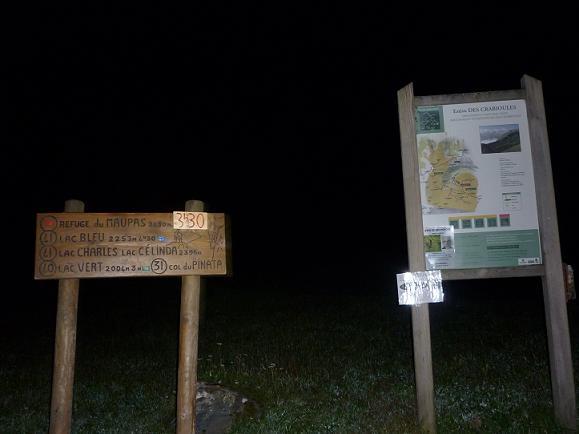 Départ de l`itinéraire du refuge du Maupas 1130 m
