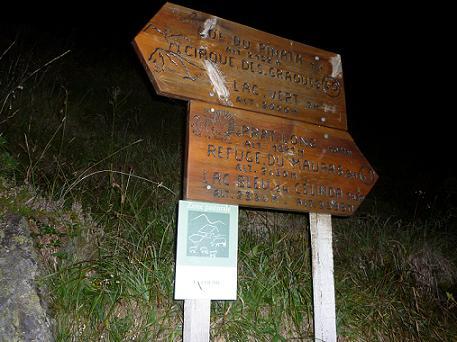 Passage à la bifurcation du col du Pinata 1714 m