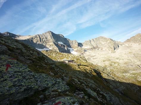 Passage près du refuge du Maupas 2430 m