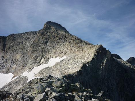 Du sommet de la Tusse de Maupas 2900 m, le pic de Maupas