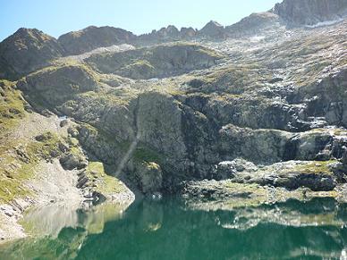 Le lac Bleu 2265 m, vert !