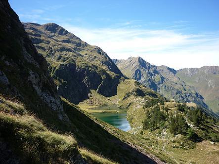 Descente vers le lac Vert 2050 m