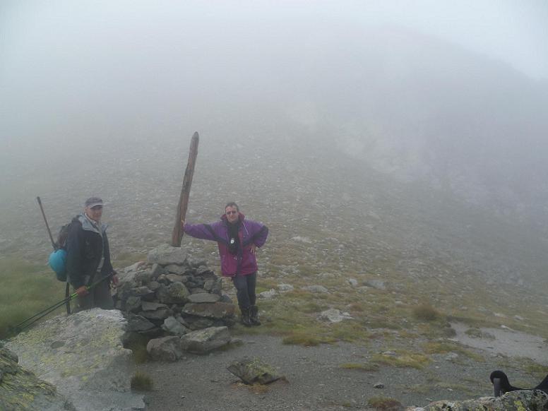 Pour cause de mauvaises conditions météorologiques, retour du vallon de Bugarret à la Hourquette de Bugarret 2614m
