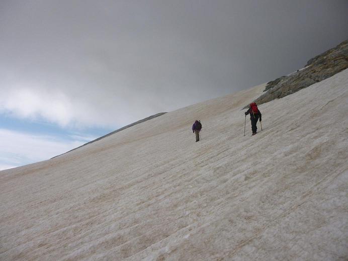 Remontée du glacier d`Ossoue