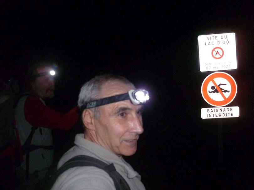 Passage au lac d`Oô 1504 m