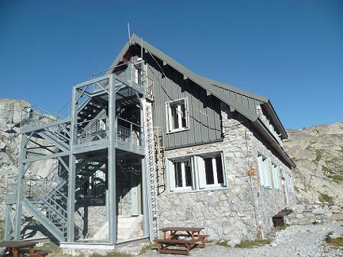 Passage près du refuge Jean Arlaud 2571 m