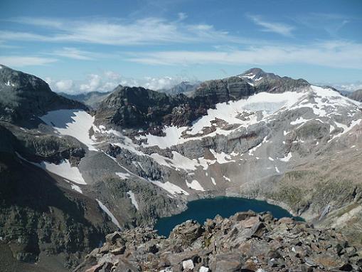 Du sommet du pic Lézat 3107 m, les pics du Seil De la Baque et le pico Posets