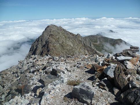 Du sommet du pic Lézat 3107 m, le Grand Quayrat