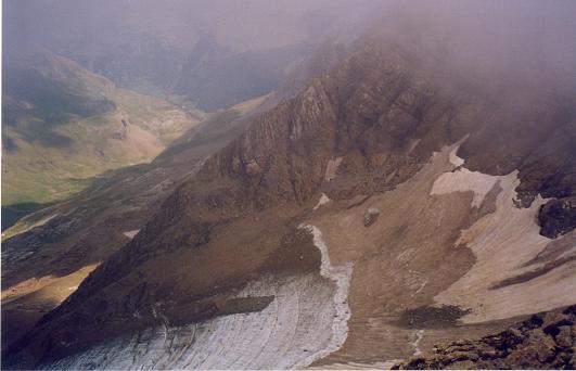 De la crête des Gabiètous, le glacier des Gabiètous