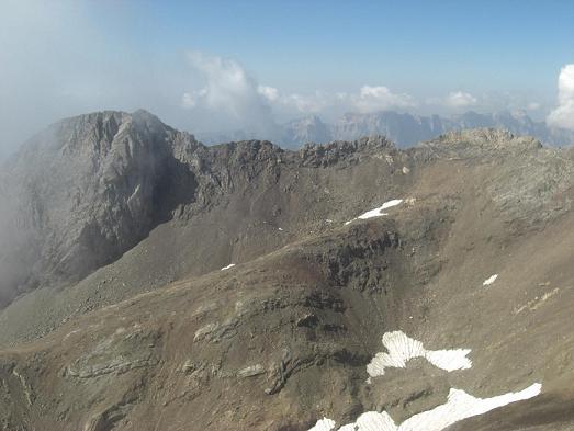 Du sommet du pico de Garmo Negro, les picos de Argualas et de Algas