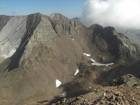 Du sommet du pico de Garmo Negro, Infiernos et pico de Arnales
