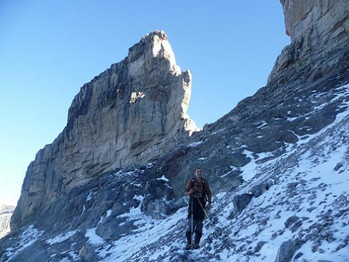 Descente du glacier de la Brèche
